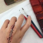 stitched hand