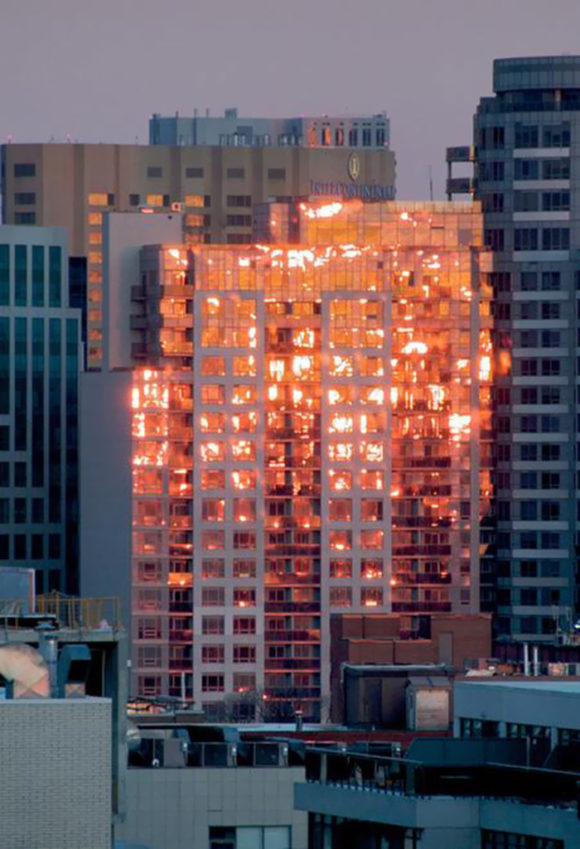 burning building illusion