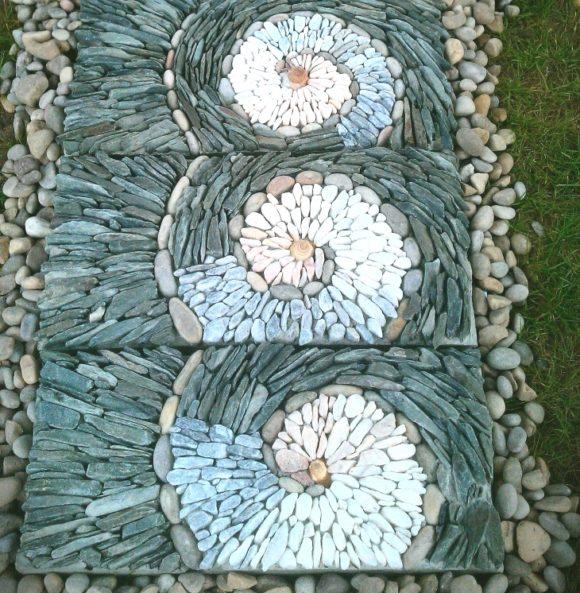 pebble spirals illusions