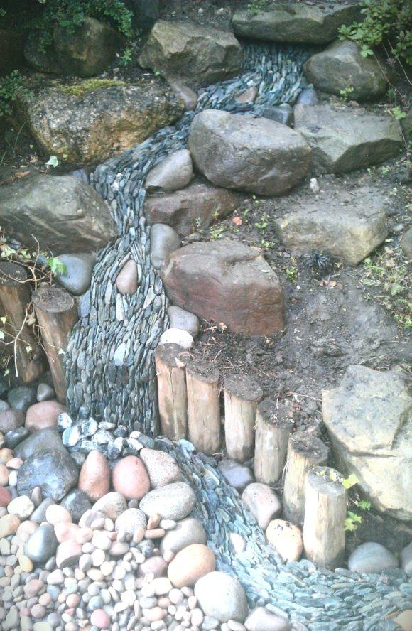 rock waterfall illusion