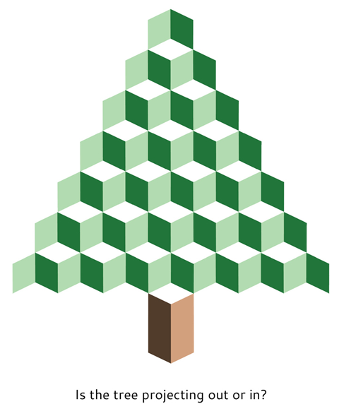 Christmas tree illusion