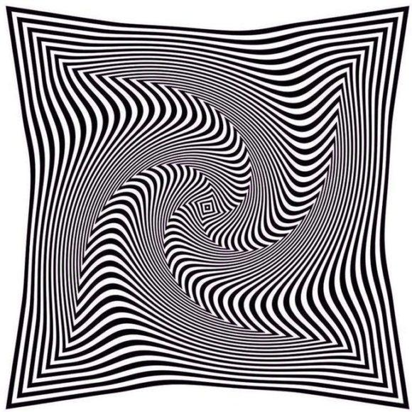 optical illusions moving illusion dizzy napkin folded
