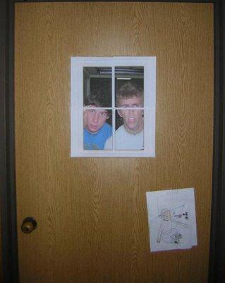 Dorm Room Doors Optical Illusion