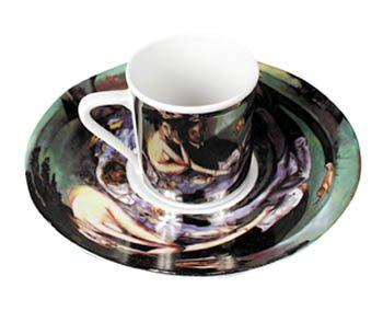 Anamorphic Tea Cups Illusion