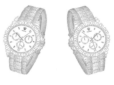 Image result for sketsa jam tangan